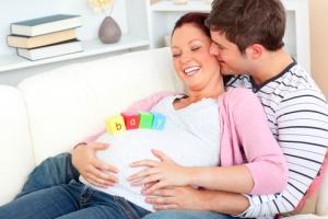 Папа обеспечивает спокойствие будущей мамы