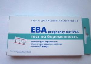 Виды тестов на беременность Ева